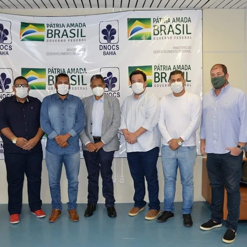Jacobina: Prefeito Tiago Dias visita o DNOCS juntamente com o deputado federal Antônio Brito