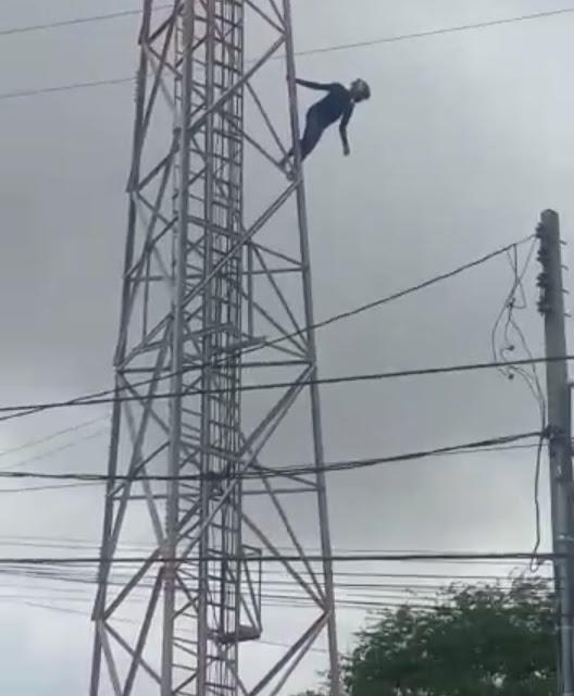 Jovem se joga de torre em Miguel Calmon
