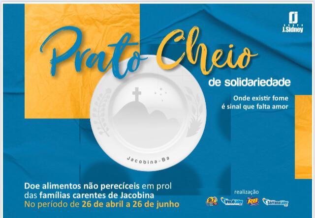 Grupo J. Sidney de Comunicação lança a Campanha Prato Cheio de Solidariedade