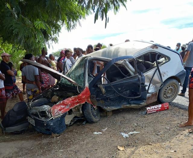 URGENTE: Grave acidente deixa 5 pessoas feridas em Novo Paraíso distrito de Jacobina