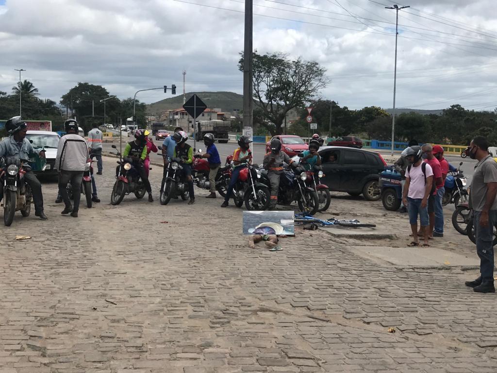 Ciclista morre atropelado em Jacobina