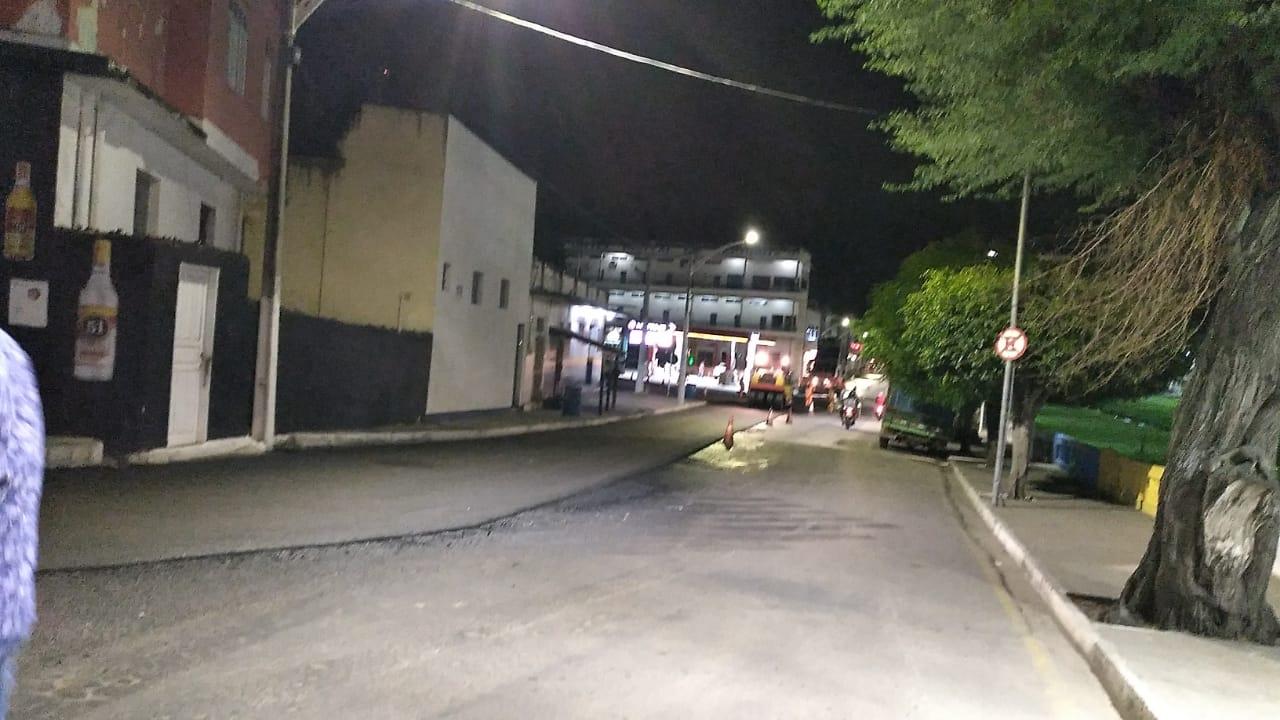Jacobina: Avenida Lomanto Júnior está parcialmente interditada