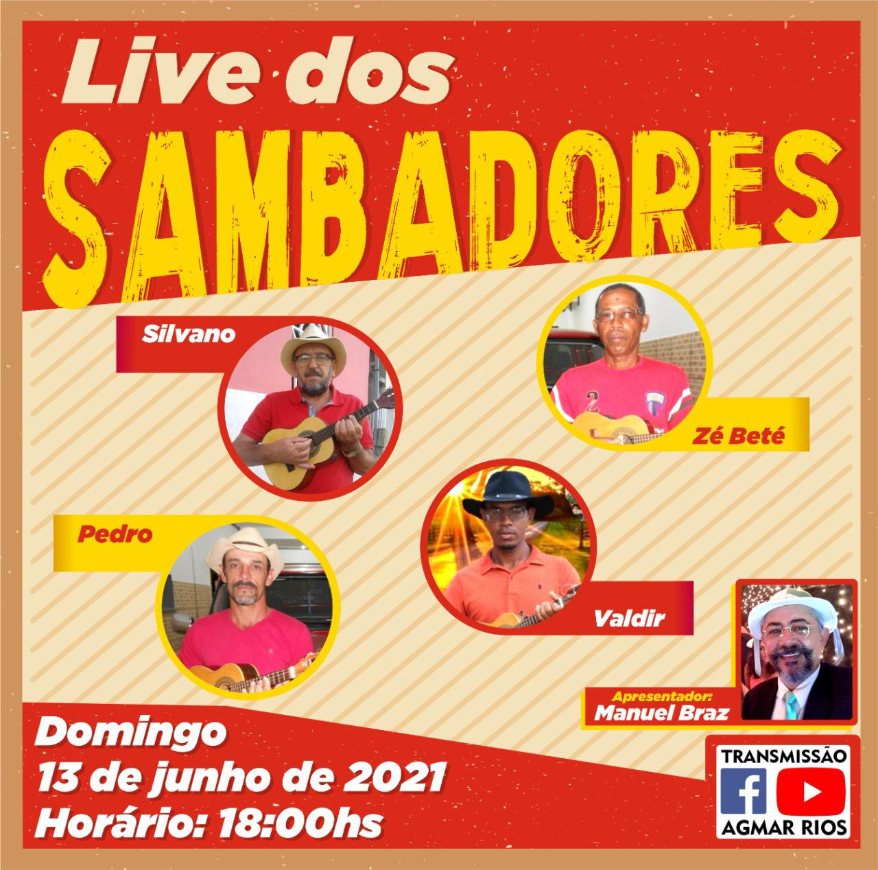 Santo Antônio de Mairi foi comemorado com Live Show de Sambadores
